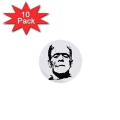 Frankenstein s Monster Halloween 1  Mini Buttons (10 Pack)  by Valentinaart
