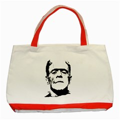 Frankenstein s Monster Halloween Classic Tote Bag (red) by Valentinaart