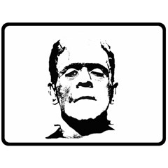 Frankenstein s Monster Halloween Fleece Blanket (large)  by Valentinaart