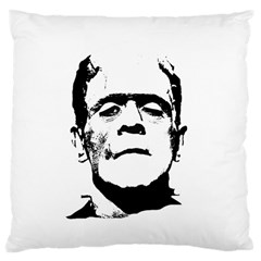Frankenstein s Monster Halloween Large Cushion Case (two Sides) by Valentinaart
