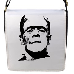 Frankenstein s Monster Halloween Flap Messenger Bag (s) by Valentinaart