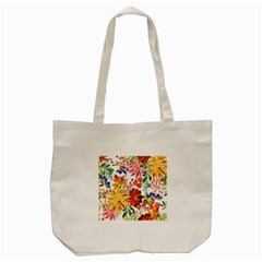 Autumn Flowers Pattern 1 Tote Bag (cream) by tarastyle