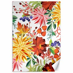 Autumn Flowers Pattern 1 Canvas 12  X 18   by tarastyle