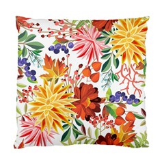 Autumn Flowers Pattern 1 Standard Cushion Case (two Sides) by tarastyle