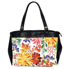 Autumn Flowers Pattern 1 Office Handbags (2 Sides)  by tarastyle