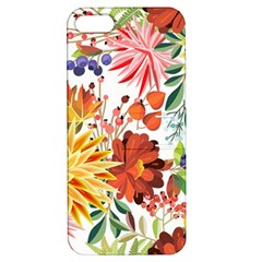 Autumn Flowers Pattern 1 Apple Iphone 5 Hardshell Case With Stand by tarastyle