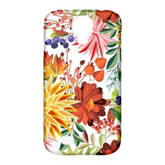 Autumn Flowers Pattern 1 Samsung Galaxy S4 Classic Hardshell Case (pc+silicone) by tarastyle
