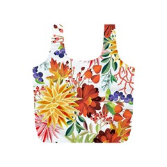 Autumn Flowers Pattern 1 Full Print Recycle Bags (s)  by tarastyle