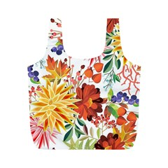 Autumn Flowers Pattern 1 Full Print Recycle Bags (m)  by tarastyle