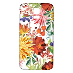Autumn Flowers Pattern 1 Samsung Galaxy S5 Back Case (white) by tarastyle