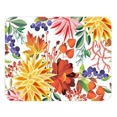 Autumn Flowers Pattern 1 Double Sided Flano Blanket (large)  by tarastyle