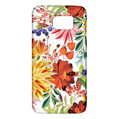 Autumn Flowers Pattern 1 Galaxy S6 by tarastyle