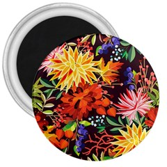Autumn Flowers Pattern 2 3  Magnets by tarastyle