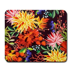 Autumn Flowers Pattern 2 Large Mousepads by tarastyle