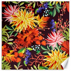 Autumn Flowers Pattern 2 Canvas 20  X 20   by tarastyle