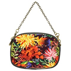 Autumn Flowers Pattern 2 Chain Purses (two Sides)  by tarastyle