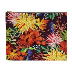 Autumn Flowers Pattern 2 Cosmetic Bag (xl) by tarastyle
