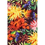 Autumn Flowers Pattern 2 5.5  x 8.5  Notebooks Back Cover
