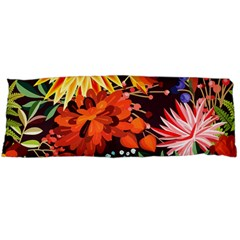Autumn Flowers Pattern 2 Body Pillow Case (dakimakura) by tarastyle