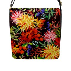 Autumn Flowers Pattern 2 Flap Messenger Bag (l)  by tarastyle