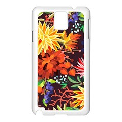 Autumn Flowers Pattern 2 Samsung Galaxy Note 3 N9005 Case (white) by tarastyle