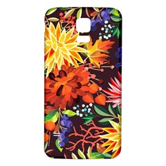 Autumn Flowers Pattern 2 Samsung Galaxy S5 Back Case (white) by tarastyle