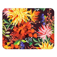 Autumn Flowers Pattern 2 Double Sided Flano Blanket (large)  by tarastyle
