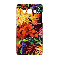 Autumn Flowers Pattern 2 Samsung Galaxy A5 Hardshell Case  by tarastyle