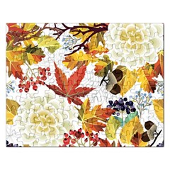 Autumn Flowers Pattern 3 Rectangular Jigsaw Puzzl by tarastyle
