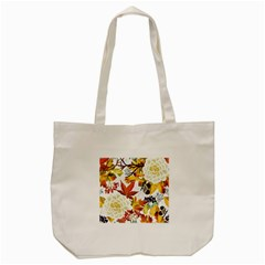 Autumn Flowers Pattern 3 Tote Bag (cream) by tarastyle