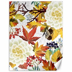 Autumn Flowers Pattern 3 Canvas 12  X 16   by tarastyle