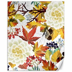 Autumn Flowers Pattern 3 Canvas 16  X 20   by tarastyle