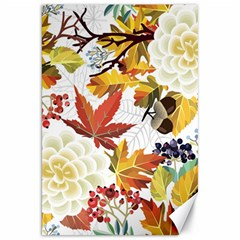 Autumn Flowers Pattern 3 Canvas 20  X 30   by tarastyle