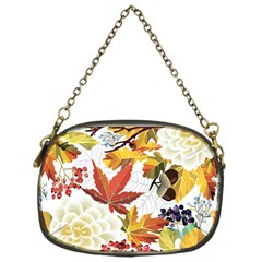 Autumn Flowers Pattern 3 Chain Purses (one Side)  by tarastyle