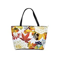 Autumn Flowers Pattern 3 Shoulder Handbags by tarastyle