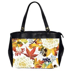 Autumn Flowers Pattern 3 Office Handbags (2 Sides)  by tarastyle