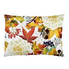 Autumn Flowers Pattern 3 Pillow Case (two Sides) by tarastyle