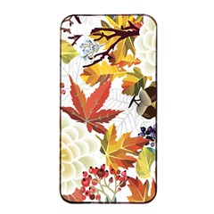 Autumn Flowers Pattern 3 Apple Iphone 4/4s Seamless Case (black) by tarastyle