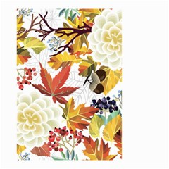 Autumn Flowers Pattern 3 Small Garden Flag (two Sides) by tarastyle
