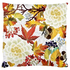 Autumn Flowers Pattern 3 Large Cushion Case (two Sides) by tarastyle