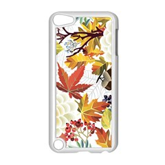 Autumn Flowers Pattern 3 Apple Ipod Touch 5 Case (white) by tarastyle