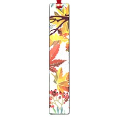 Autumn Flowers Pattern 3 Large Book Marks by tarastyle