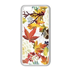 Autumn Flowers Pattern 3 Apple Iphone 5c Seamless Case (white) by tarastyle