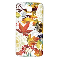 Autumn Flowers Pattern 3 Samsung Galaxy S5 Back Case (white) by tarastyle