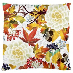 Autumn Flowers Pattern 3 Standard Flano Cushion Case (one Side) by tarastyle