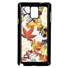 Autumn Flowers Pattern 3 Samsung Galaxy Note 4 Case (black) by tarastyle