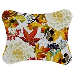 Autumn Flowers Pattern 3 Jigsaw Puzzle Photo Stand (bow)