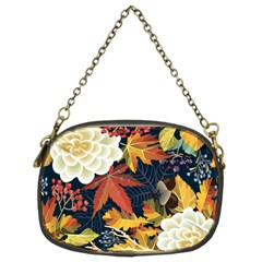 Autumn Flowers Pattern 4 Chain Purses (two Sides)  by tarastyle