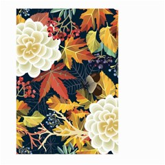 Autumn Flowers Pattern 4 Large Garden Flag (two Sides) by tarastyle