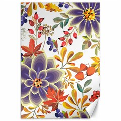 Autumn Flowers Pattern 5 Canvas 20  X 30   by tarastyle